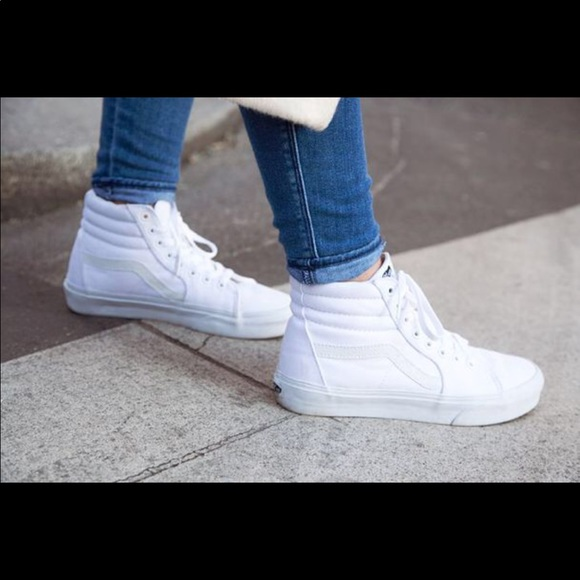 Vans High Top Old Skool—All White. M 5b6f2a6acdc7f7312262ab7f 5ced10b58